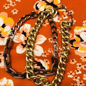 Chunky chain statement necklaces